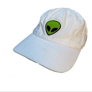 ALIEN white cap hat adjustable